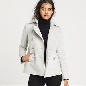 J Crew Perennial Peacoat Coat Nello Gori Wool Grey
